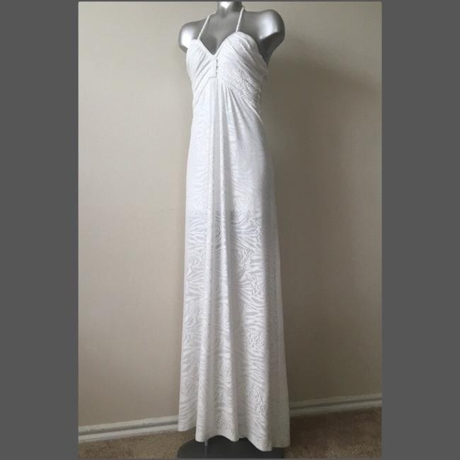White Maxi Dress by Sky Image 1