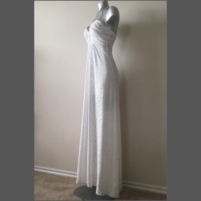 White Maxi Dress by Sky Image 2