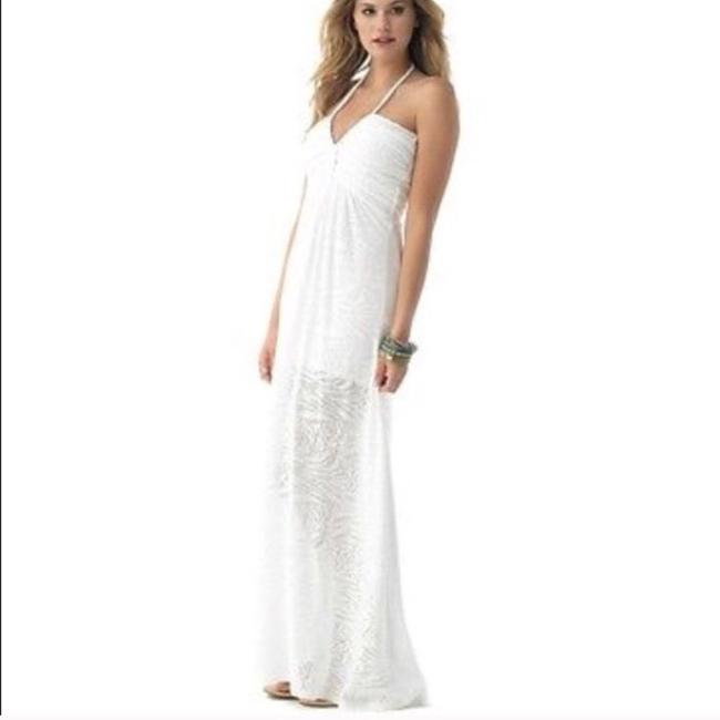 White Maxi Dress by Sky Image 5