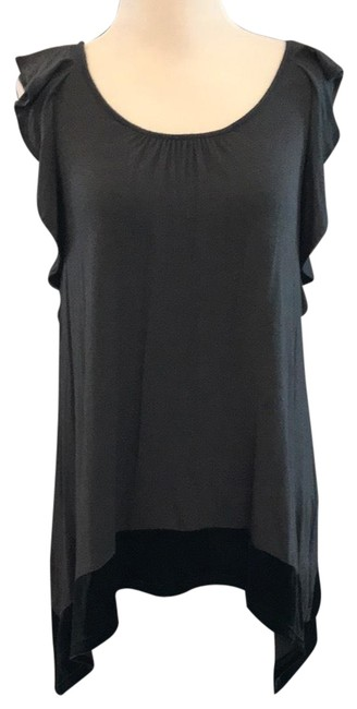 Item - Grey/Black Velvet Trim Tank Top/Cami Size 4 (S)