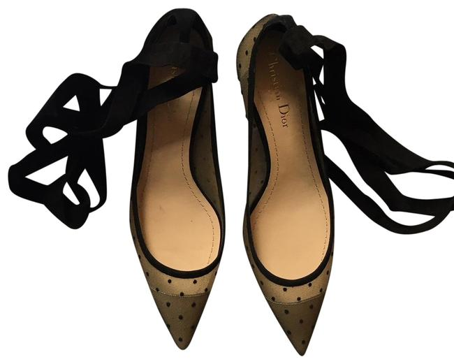 Item - Black/ Nude Lovely D Dotted Ankle Wrap Kitten - Pumps Size EU 38.5 (Approx. US 8.5) Regular (M, B)