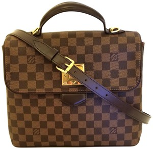 Louis Vuitton Bergamo Mm Mm Bags Checkerboard Discontinued Rare Satchel in Damier Ebene, Brown