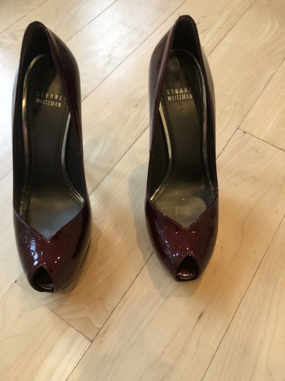 Stuart Weitzman Ruby red pattent leather Pumps Image 1
