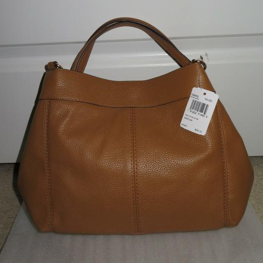64cb93a320 Coach Lexy Small -- F28992 Light Saddle Leather Shoulder Bag - Tradesy