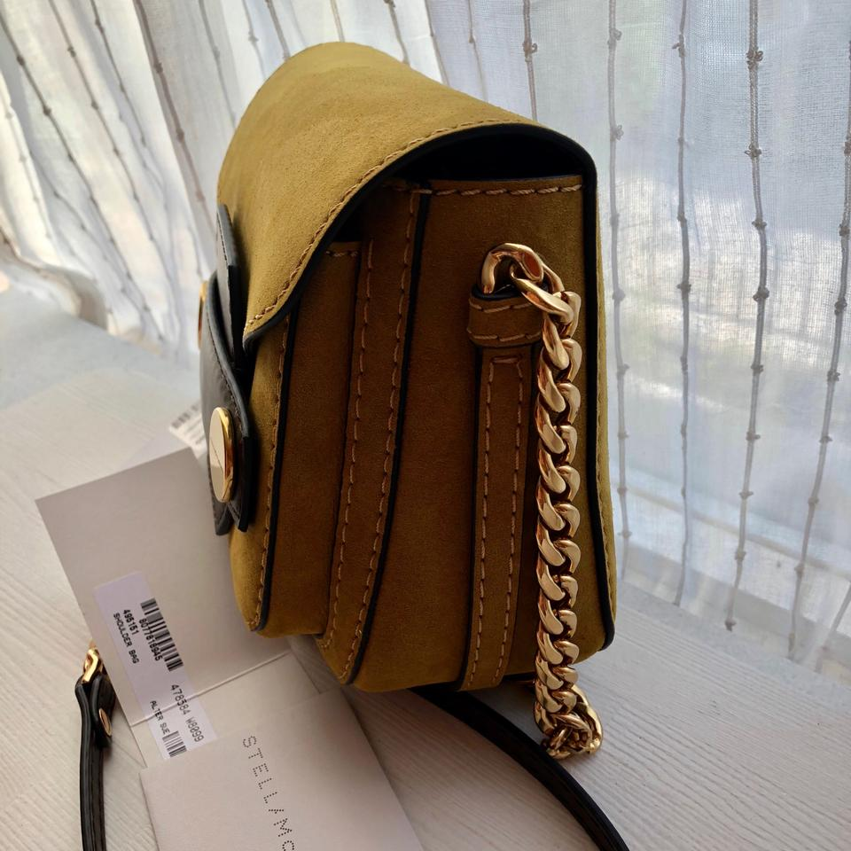 b2397e6863aa Stella McCartney Popper Crossbody Mustard Yellow Faux Suede Shoulder Bag -  Tradesy