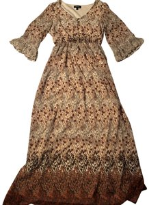 brown Maxi Dress by Love Reign