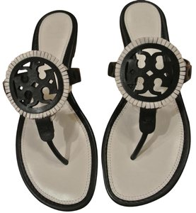Tory Burch Black/ Bleach/ Black Sandals