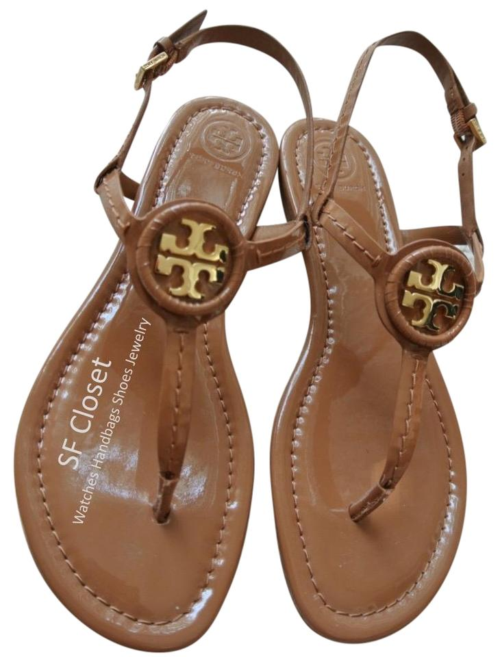 d1628cafe4ac Tory Burch Brown Dillan Soft Patent Leather 8m Sandals Size US 8 ...