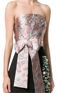 Prada Crop Floral Jacquard Summer Date Night Top Pink