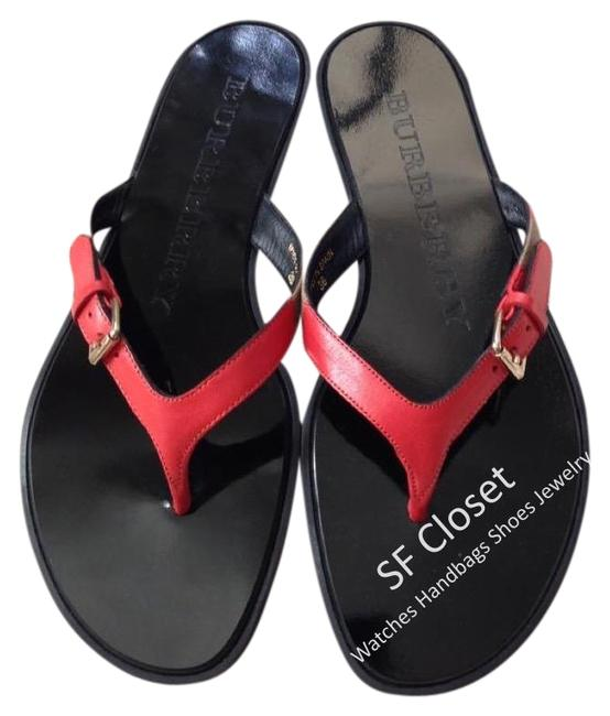 Item - Bright Coral Icon Clip Housecheck Sandals Size EU 39.5 (Approx. US 9.5) Regular (M, B)