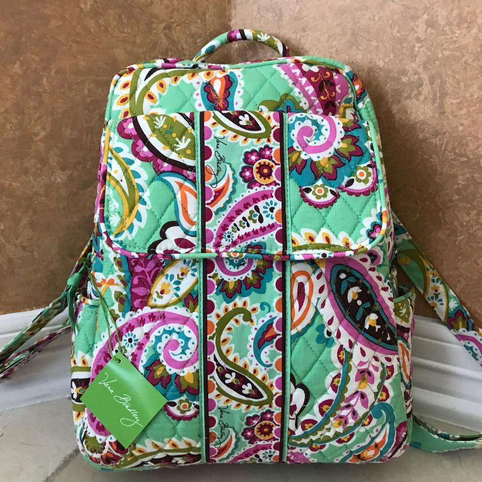 8a2bca9330 Vera Bradley Medium School Travel Shoulder Tutti Frutti Backpack ...