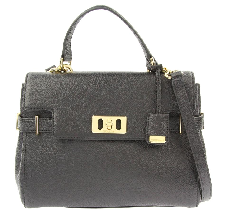 cd1cab920de9ff Michael Kors Medium Karson Black Leather Satchel - Tradesy