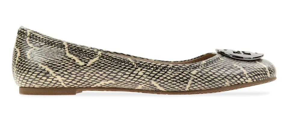 749d95a0d Tory Burch Snake-embossed Round Toe T Logo Medallion Leather Lining  mulitcolored Flats Image 0 ...