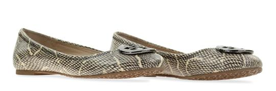 Tory Burch Snake-embossed Round Toe T Logo Medallion Leather Lining mulitcolored Flats Image 1