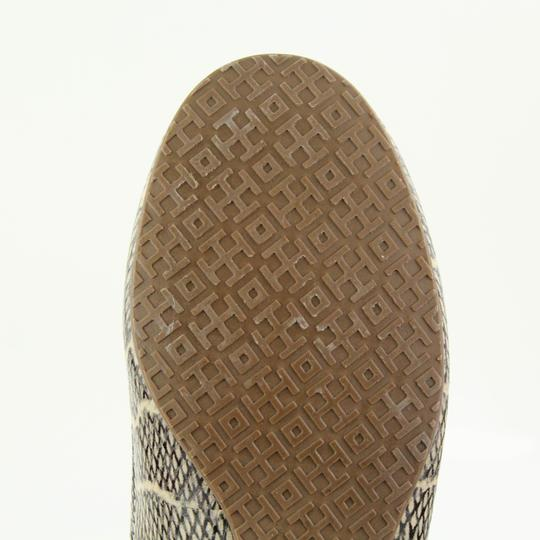 Tory Burch Snake-embossed Round Toe T Logo Medallion Leather Lining mulitcolored Flats Image 11