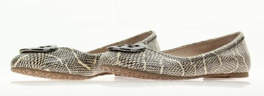 Tory Burch Snake-embossed Round Toe T Logo Medallion Leather Lining mulitcolored Flats Image 3