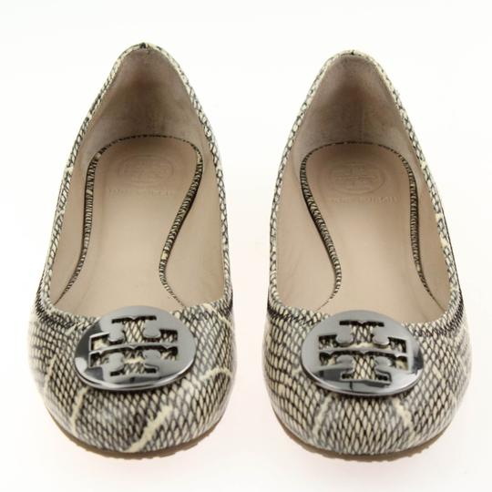 Tory Burch Snake-embossed Round Toe T Logo Medallion Leather Lining mulitcolored Flats Image 4