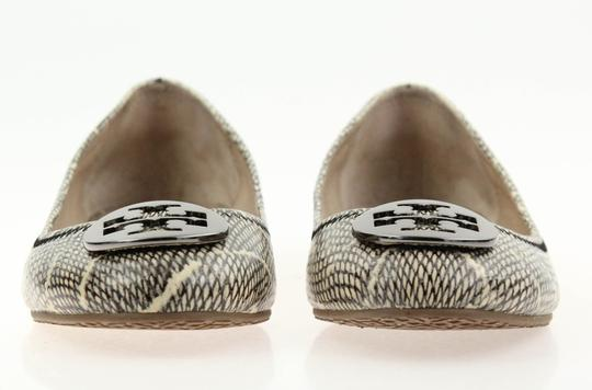 Tory Burch Snake-embossed Round Toe T Logo Medallion Leather Lining mulitcolored Flats Image 5