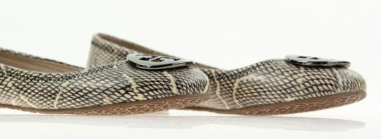 Tory Burch Snake-embossed Round Toe T Logo Medallion Leather Lining mulitcolored Flats Image 6