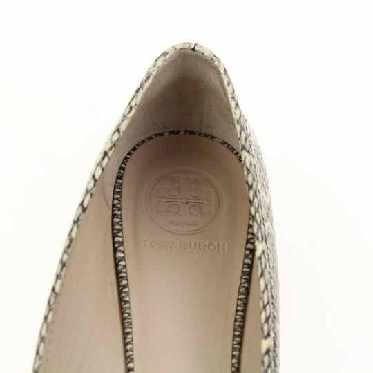 Tory Burch Snake-embossed Round Toe T Logo Medallion Leather Lining mulitcolored Flats Image 7