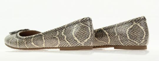 Tory Burch Snake-embossed Round Toe T Logo Medallion Leather Lining mulitcolored Flats Image 9