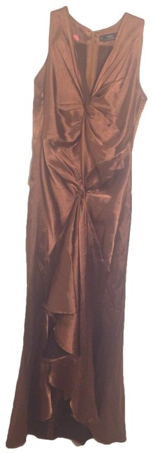 Item - Brown Diagonal Hem Evening Gown Long Formal Dress Size 12 (L)