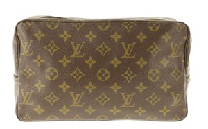 Louis Vuitton Cosmetic Toilette Poche Pouch Make Up Brown Clutch