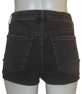 e5b89d1e58 American Eagle Outfitters Cuffed Shorts Black. American Eagle Outfitters  Black Super Stretch Denim Super High Rise ...