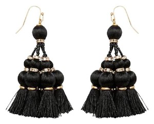 Kate Spade NEW NWT KATE SPADE NEW YORK BLACK TASSEL SUMMER EARRINGS