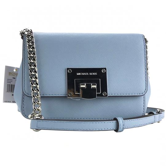 5ee5cb03f496 Michael Kors Clutch Tina Small with Shoulder Strap Blue Leather ...