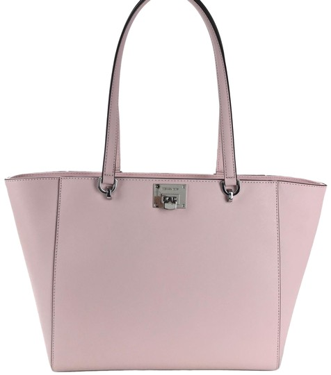 Preload https://img-static.tradesy.com/item/23564037/michael-kors-tina-lg-blossom-pink-leather-tote-0-1-540-540.jpg