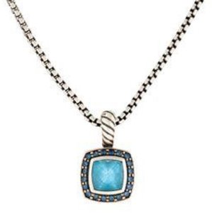 David Yurman David Yurman Petite Albion Necklace with Topaz and Sapphires