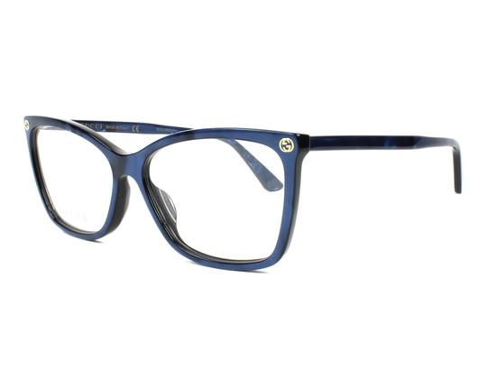 Gucci Blue New Gg0025o Cat Eye Prescription Frames