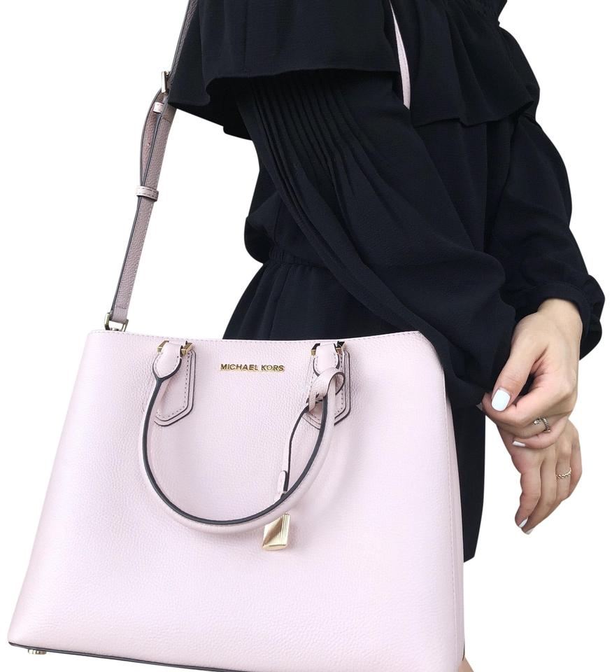 6178911c1046 Michael Kors Adele Crossbody New With Tag Satchel in Blossom Pink Image 0  ...