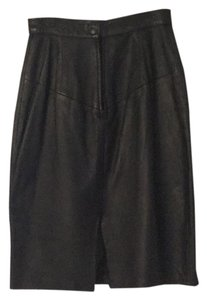 FORENZA Skirt Black leather
