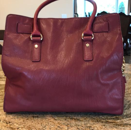 Michael Kors Satchel in Burgundy Image 3