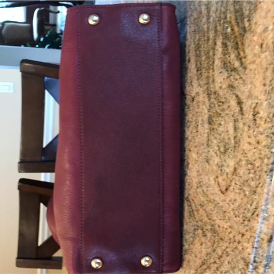 Michael Kors Satchel in Burgundy Image 6
