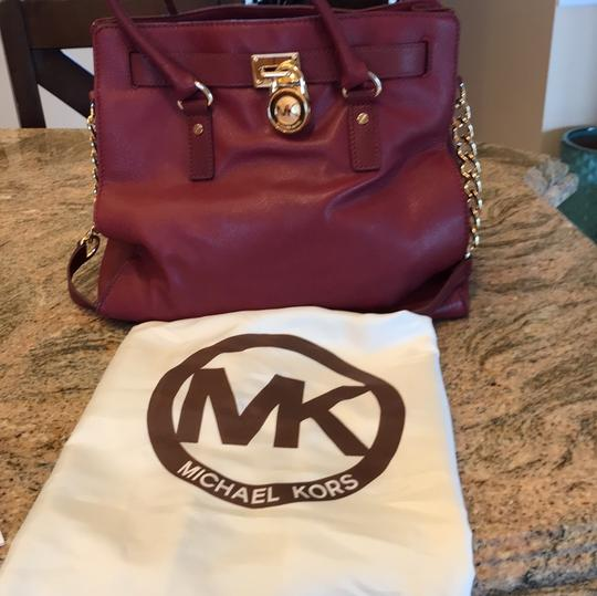 Michael Kors Satchel in Burgundy Image 7