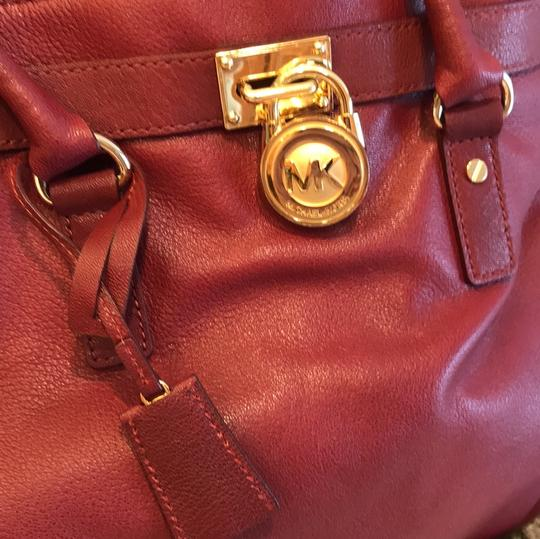 Michael Kors Satchel in Burgundy Image 8