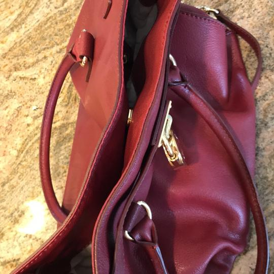 Michael Kors Satchel in Burgundy Image 9
