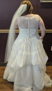 Melissa Sweet Shades Of Ivory Lace Ms 251073 Traditional Wedding Dress Size 22 (Plus 2x)