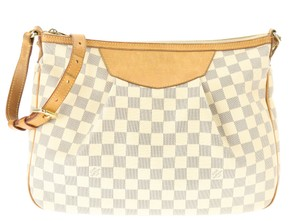 Louis Vuitton Siracusa Mm Damier Damier Azur Siracusa Damier Shoulder Bag
