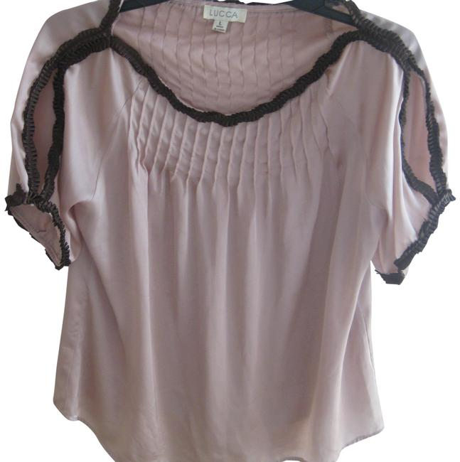 Preload https://img-static.tradesy.com/item/23564890/lucca-taupe-and-brown-satin-blouse-size-12-l-0-1-650-650.jpg