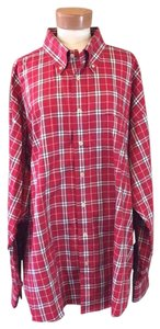 Burberry Button Down Shirt red multi