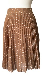 The Limited Skirt Camel w/ White Polka Dots
