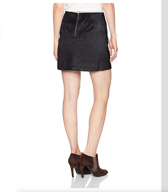 Kensie Faux Leather A-line Mini Skirt Black Image 1
