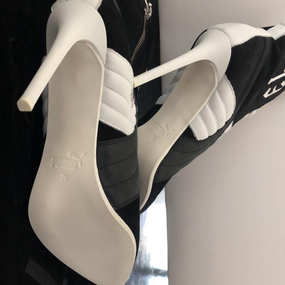 a6f3b9105a73 FENTY PUMA by Rihanna Black Pointed Stiletto Boots Booties Size US ...