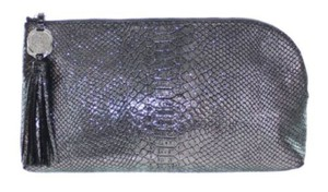 Vince Camuto Snakeskin Purse Leather Silver Clutch