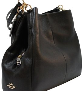 Coach Premium Leather Strappy Oversized Shoulder Bag
