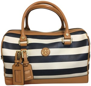 Tory Burch Satchel in Navy/Cream